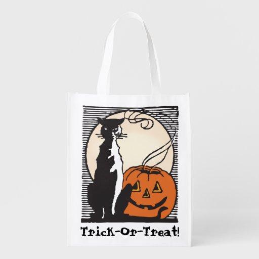 Halloween Süßes sonst gibt's Saures! Einkaufstüte Wiederverwendbare Einkaufstaschen