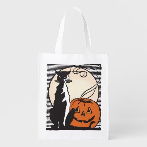 Halloween Süßes sonst gibt's Saures! Einkaufstüte Wiederverwendbare Tragetaschen
