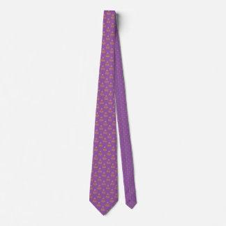 Halloween-Süßigkeits-Mais-Punkt-Muster-lila Kunst Krawatte