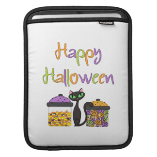 Halloween-Süßigkeits-schwarze Katze iPad Sleeve