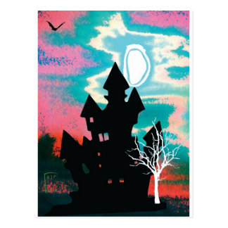 Halloween-Szene 1 Postkarte