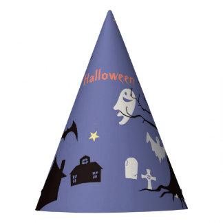 Halloween-Szene mit Geisthexen und -schlägern Partyhütchen