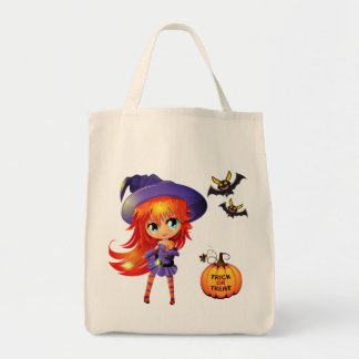 Halloween Tasche-Mädchen Hexe Tragetasche