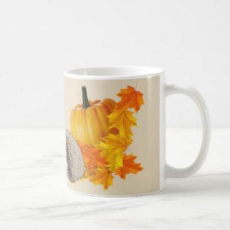 Halloween-Tasse - Kürbise u. Igel Kaffeetasse