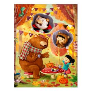 Halloween-Tee-Party Postkarte