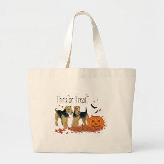 Halloween-Terrier Jumbo Stoffbeutel
