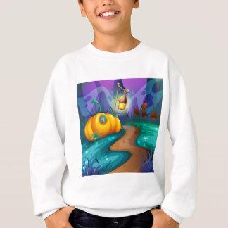 Halloween-Thema mit Kürbis auf dem Gebiet Sweatshirt