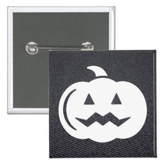 Halloween trägt Piktogramm Früchte Quadratischer Button 5,1 Cm