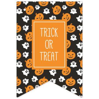 Halloween-Trick oder Leckerei-niedliche Geister u. Wimpelketten