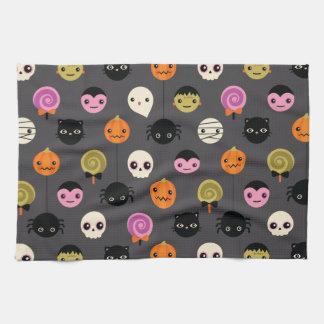 Halloween-Tupfen-Muster Geschirrtuch