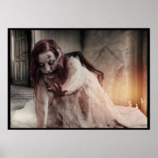 Halloween, Übel, kriechend und kriechen, blutiges Poster