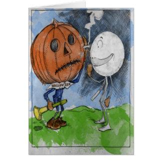 Halloween und Schneeball Karte