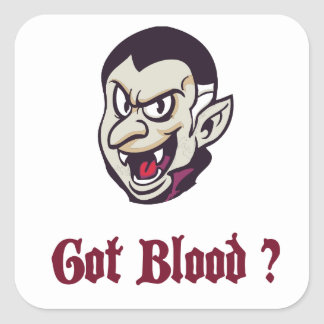 Halloween-Vampir erhielt Blut-Aufkleber Quadratischer Aufkleber