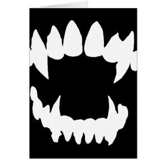 Halloween-Vampir - Vampirszähne Karte