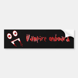 Halloween-Vampirszähne Autoaufkleber