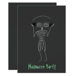 Halloween-Vogelscheuche 12,7 X 17,8 Cm Einladungskarte