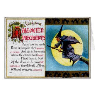 Hallowe'en Vorkehrungs-Karte Karte