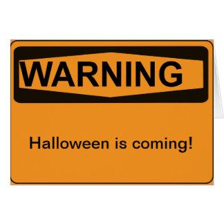 Halloween-Warnung Karte
