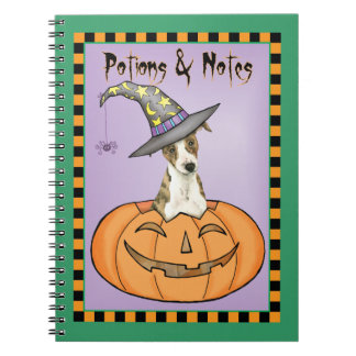 Halloween Whippet Spiral Notizblock