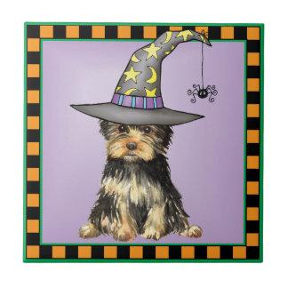 Halloween Yorkie Fliese
