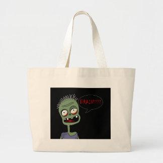 Halloween-Zombie Jumbo Stoffbeutel