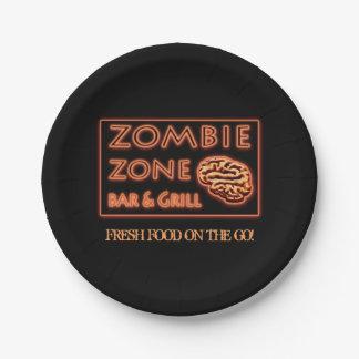 Halloween-Zombie-Zonen-frische Nahrung unterwegs Pappteller