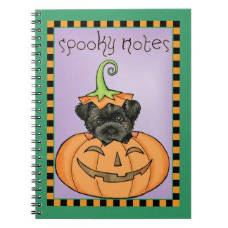 HalloweenAffenpinscher Spiral Notizblock