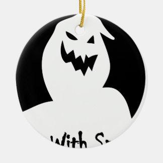 Halloweengesicht gespenstisch keramik ornament