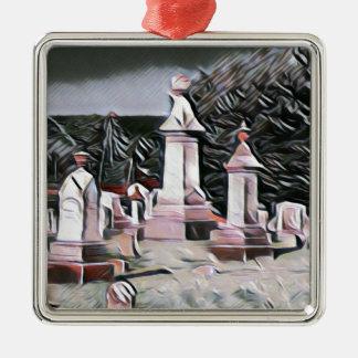 HalloweenGraveyard RIP Party-Versorgungen Silbernes Ornament