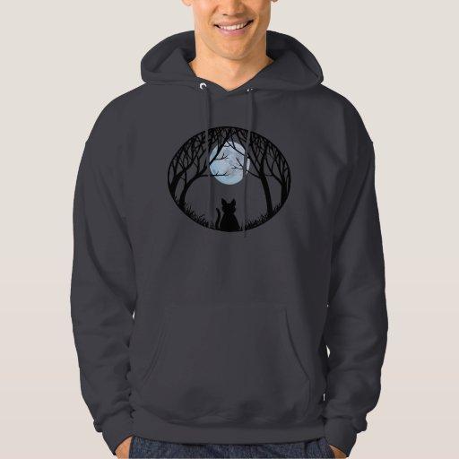 Halloweenhoodie-schwarze Katzen-mit Kapuze Kapuzensweatshirt