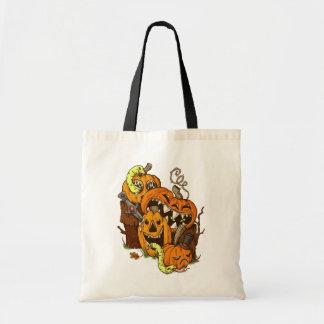 Halloweenkürbis-und -schlangen-Budget-Tasche Tragetasche
