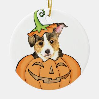 Halloweenpembroke-WaliserCorgi Keramik Ornament