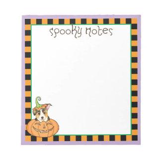 Halloweenpembroke-WaliserCorgi Notizblock