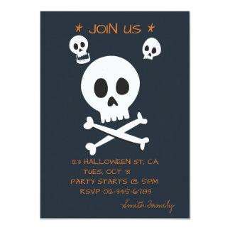 Halloweentrick-oder -Leckerei-niedliche Schädel Karte