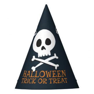 Halloweentrick-oder -Leckerei-niedliche Schädel Partyhütchen