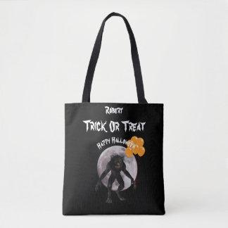HalloweenWerewolf mit Ballon-Trick oder Leckerei Tasche
