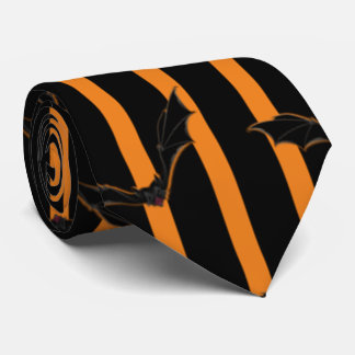 Hallowen Streifen und Schläger Krawatte
