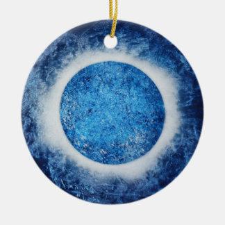 """""""Halo auf Eis"""" abstrakte Malerei-Verzierung Keramik Ornament"""