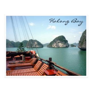 halong Buchtboot Postkarte