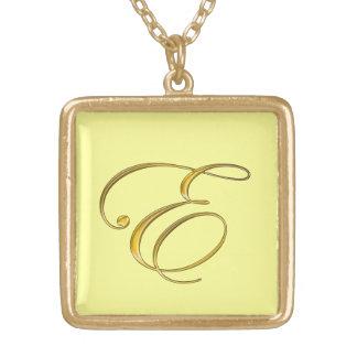 Halskette der Goldmonogramm-Initialen-E