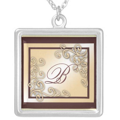 """Halskette des Monogramm-""""B"""""""
