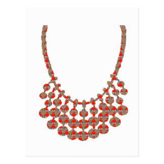 Halskette JUWEL-dekorative KUNST von Navin Joshi Postkarte