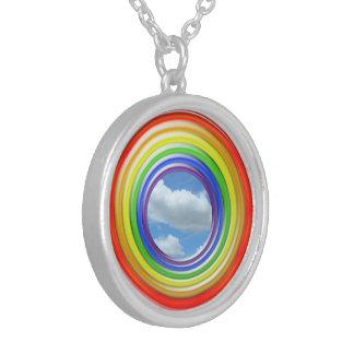 Halskette - Regenbogen-Ringe und Himmel