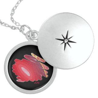 Halskettelocket-Leidenschaft Chakra Flamme auf Medaillon