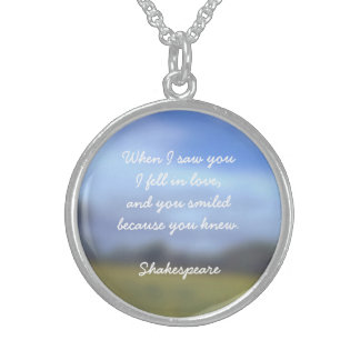 Halsketten-Anhänger mit Shakespeare-Zitat der Sterling Silberkette