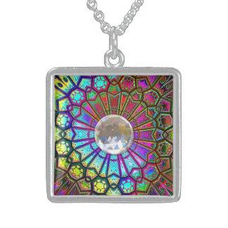 Halsketten-Wahlen der Kaleidoskop-Kunst-14 Halskette Mit Quadratischem Anhänger