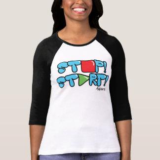 HALT! ANFANG! Kleiderlogo-Baseballt-stück - Küken T-Shirt