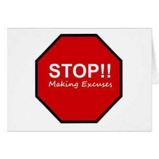 Halt!! Herstellung von Entschuldigungen Grußkarten