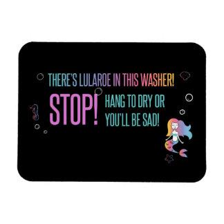 Halt! Magnetkarte Lula Sorgfalt zur Waschmaschine Magnet