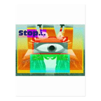 Halt! Postkarte